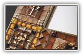 Bronze table mirror or frame: